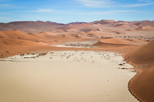 Dead Vlei salt pan from Big Daddy dune, Namibia