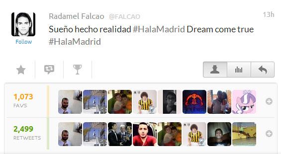 Radamael Falcao tweet on Favstar.fm