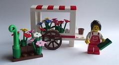 Lego MOC Flower Seller - built model