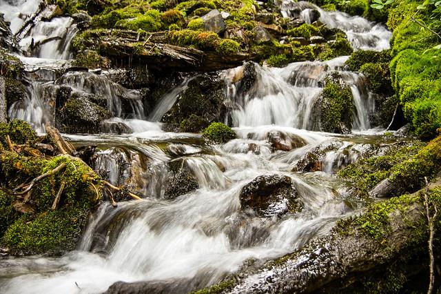 waterfall into Ole Lake