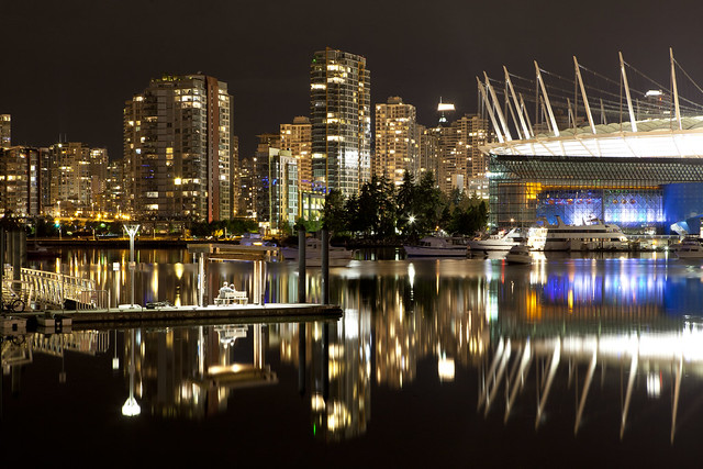 Night View from False Creek