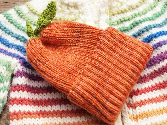 pumpkin hat on babyStripes!