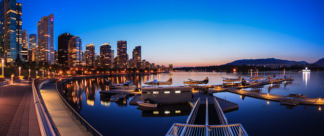 Coal Harbour after Sunset