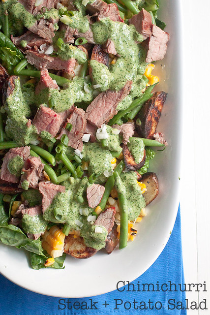 Chimichurri Steak and Potato Salad