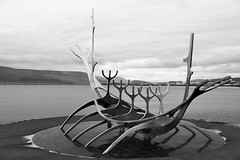 Solfar (Sun Voyager) stainless steel sculpture - Reykjavik, Iceland