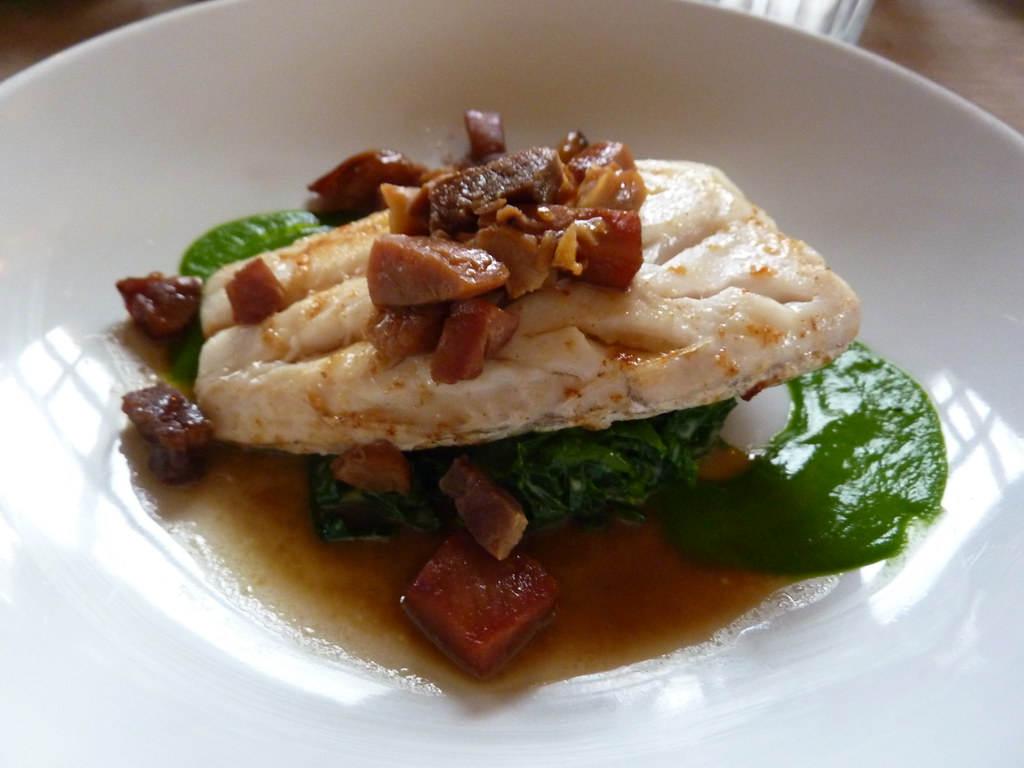 Hake with chestnuts