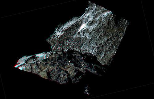ESA Rosetta: 67P OSIRIS 5 settembre anaglifo