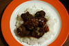 Sweet & Sour Meatballs With Rice... (dinner)