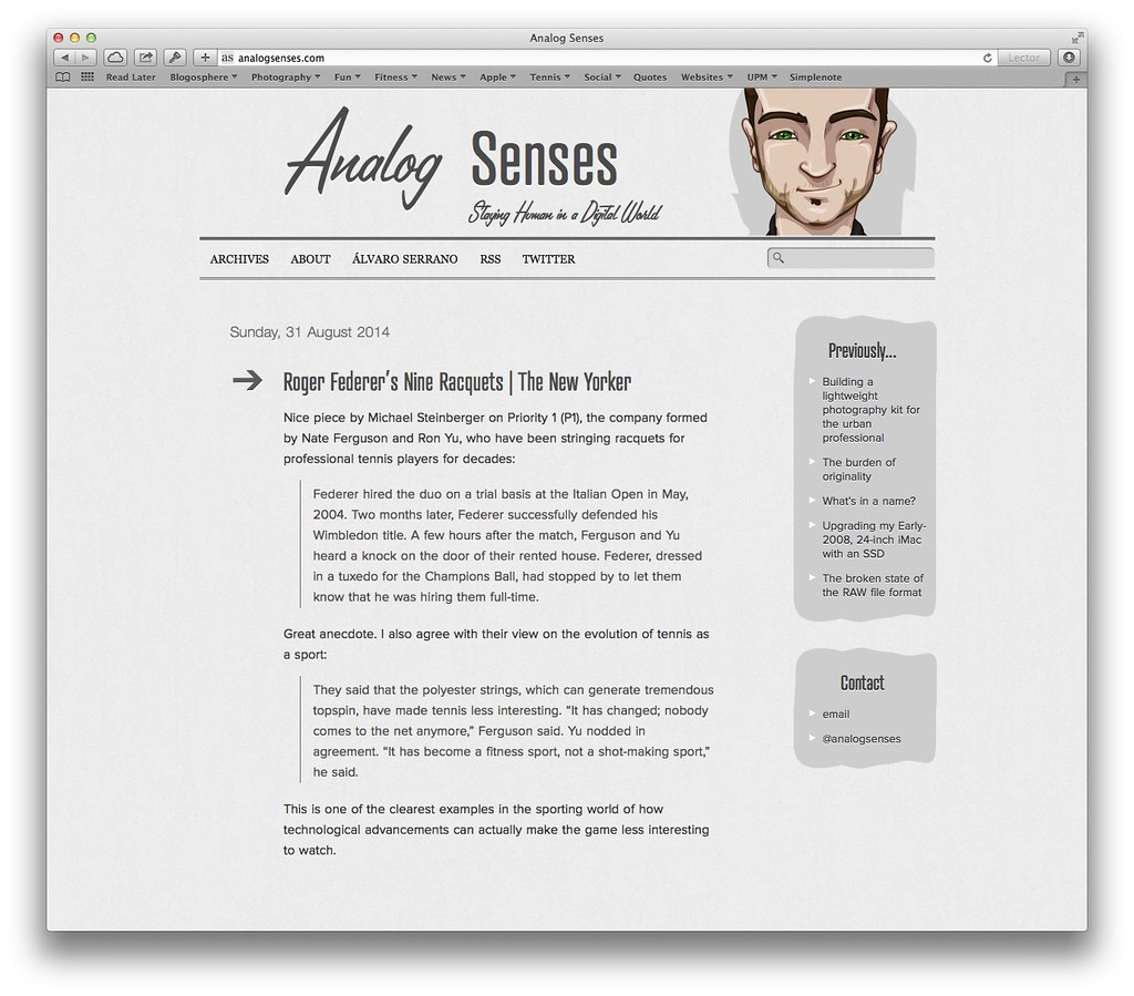 Analog Senses Mac - WordPress by Álvaro Serrano, on Flickr
