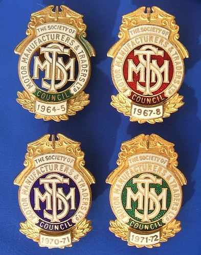 The Society of Motor Manufacturers & Traders Ltd Council - member's badges (1964-1972)