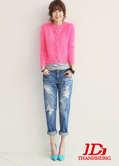 Mẫu quần jeans boyfriend nữ đẹp CỰC chất 9