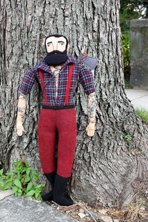 lumberjack in the neighborhood