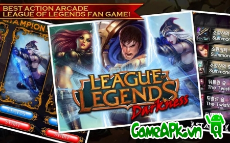 League of Legends Darkness v1.5 hack full vàng cho Android