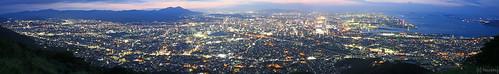 panorama japan night canon walking hiking fukuoka 夜景 kitakyushu 福岡 kokura yakei 山登り 北九州 小倉 トレッキング mtkomonji komonji 小文字山