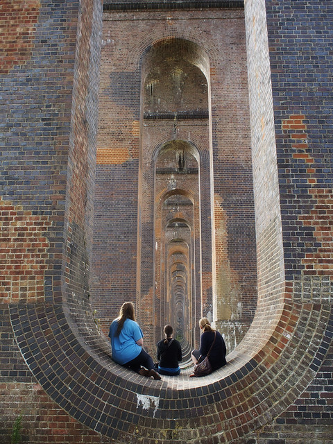 girls on viaduct