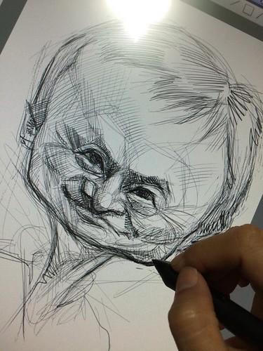 digital caricature of Jack Ma - 1