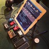 Rockin' the iPad for the first time in #worship! Note the @thechurchcollective pick tin, sportin' it! :)