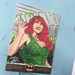 Finished: Poison Ivy - #dccomics #comics #batman #sketch #card