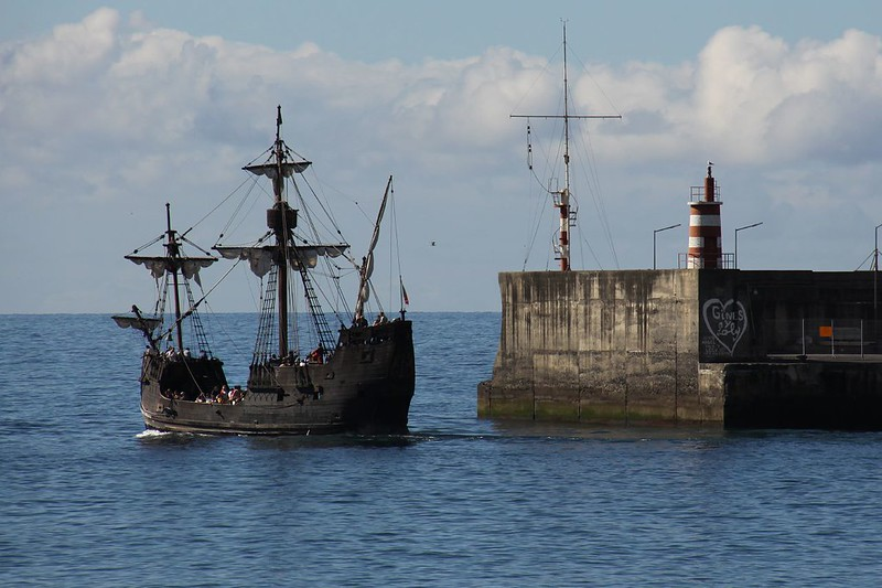 Replica of Santa María, the largest of the three ships used by Columbus in his 1th voyage, Madeira