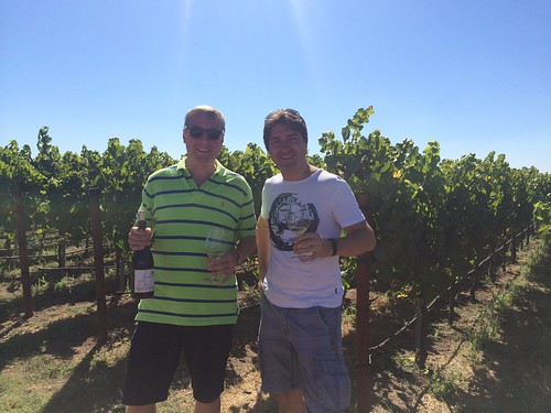Danny and Marc at the Kendall-Jackson winery in Sonoma