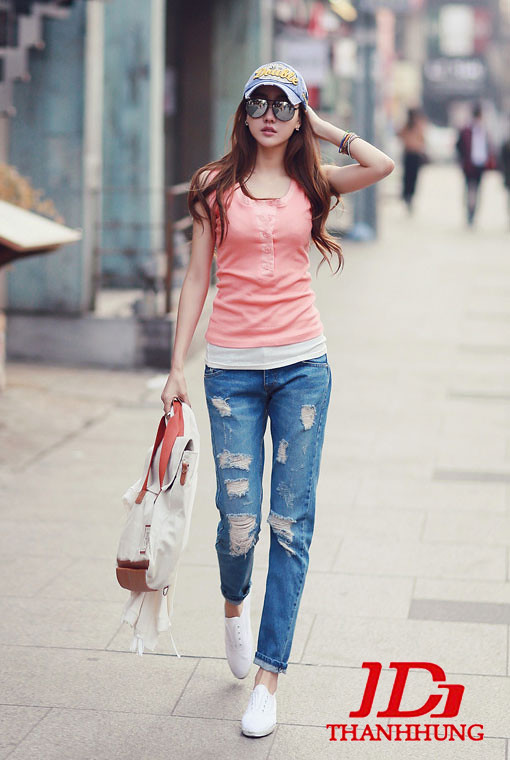Mẫu quần jeans boyfriend nữ đẹp CỰC chất 3
