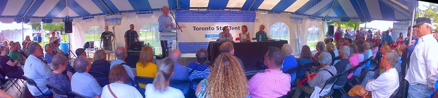 Year at City Hall, Daniel Dale, Betsy Powell, David Rider, Toronto Star Tent, Word On The Street Toronto, Queen's Park Crescent, Toronto Ontario Canada, Sunday September 21 2014