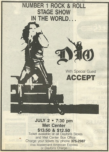 07/02/86 Dio/ Accept @ Met Center, Bloomington, MN