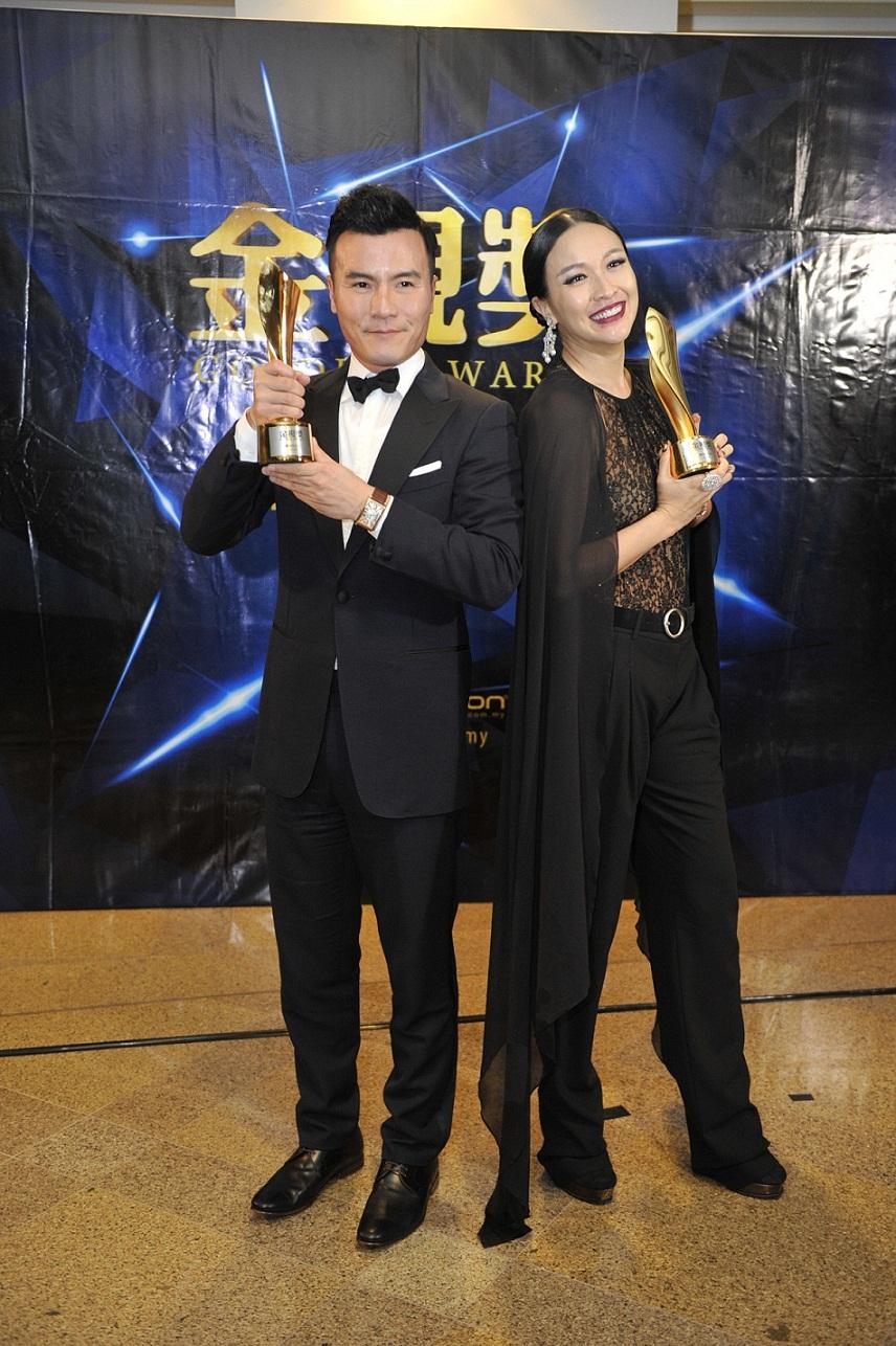Pelakon Lelaki & Wanita Terbaik - Frederick Lee & Debbie Goh2