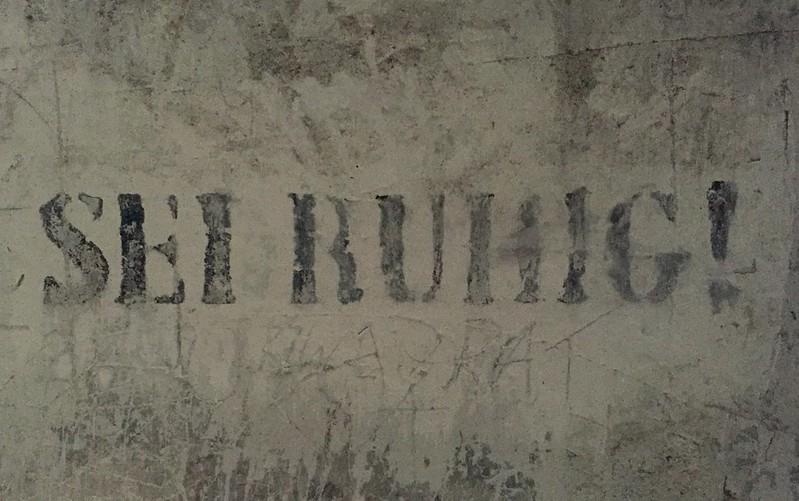 Auschwitz Birkenau concentration camp - be quiet!
