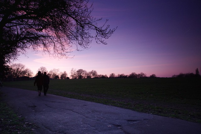 Sunset in Brockwell Park