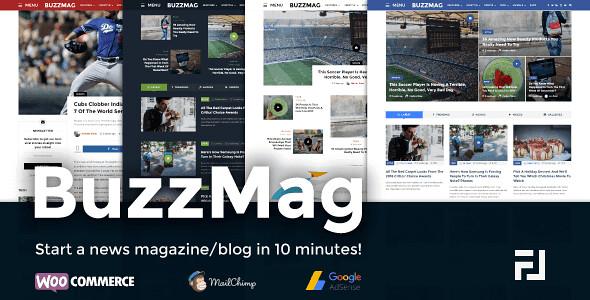BuzzMag WordPress Theme free download