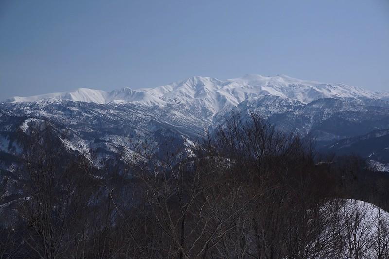 西山山頂からの白山連峰!