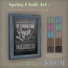 Spring Chalk Art - In Springtime