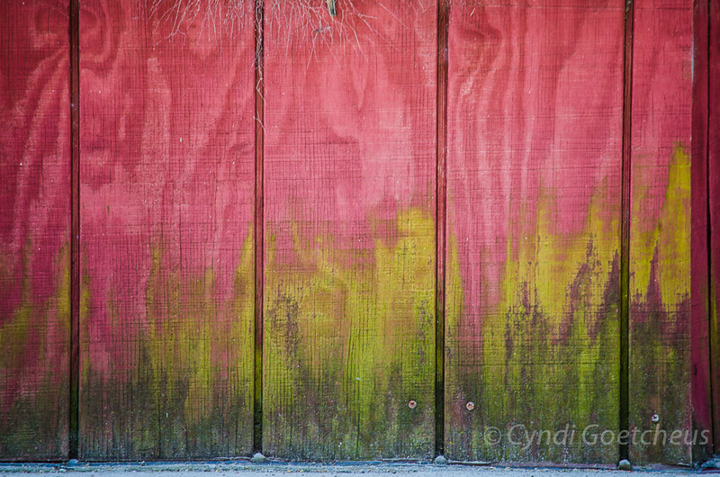 colorful wabi sabi wall