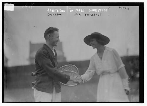 Johnston & Miss Bjurstedt (LOC)