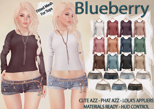 Blueberry Tazz Long Crop Tops & Denim Shorts with Beaded Belts