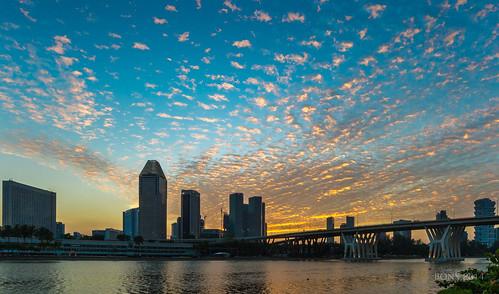 sunset clouds singapore altocumulus