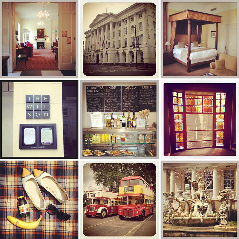 Weekend in Cheltenham - The Queen's Hotel, Wilson Gallery. Neptune's Fountain (via Instagram)