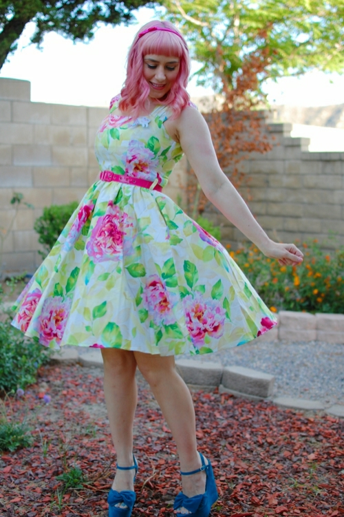 bernie dexter veronique blush cabbage rose dress 6