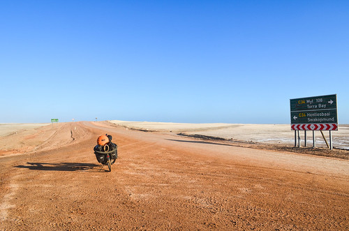 Cycling the salt road, Namibia