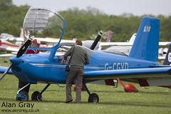 G-CGVD VAN'S RV-12 LAA 363-15005 PRIVATE -Sywell-20130601-Alan Gray-IMG_9087