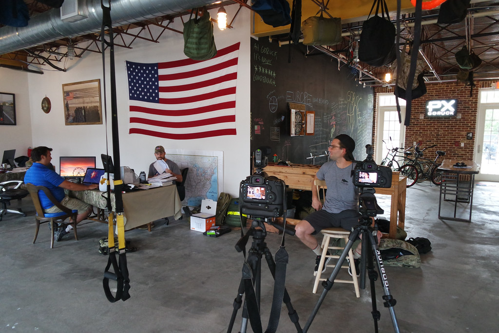 Filming at GORUCK HQ