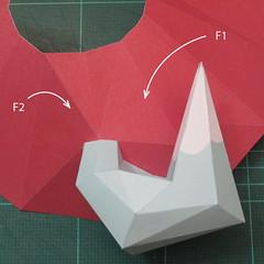 วิธีทำโมเดลกระดาษตุ้กตาคุกกี้รัน คุกกี้รสจิ้งจอกเก้าหาง (Cookie Run Nine Tails Cookie Papercraft Model) 013