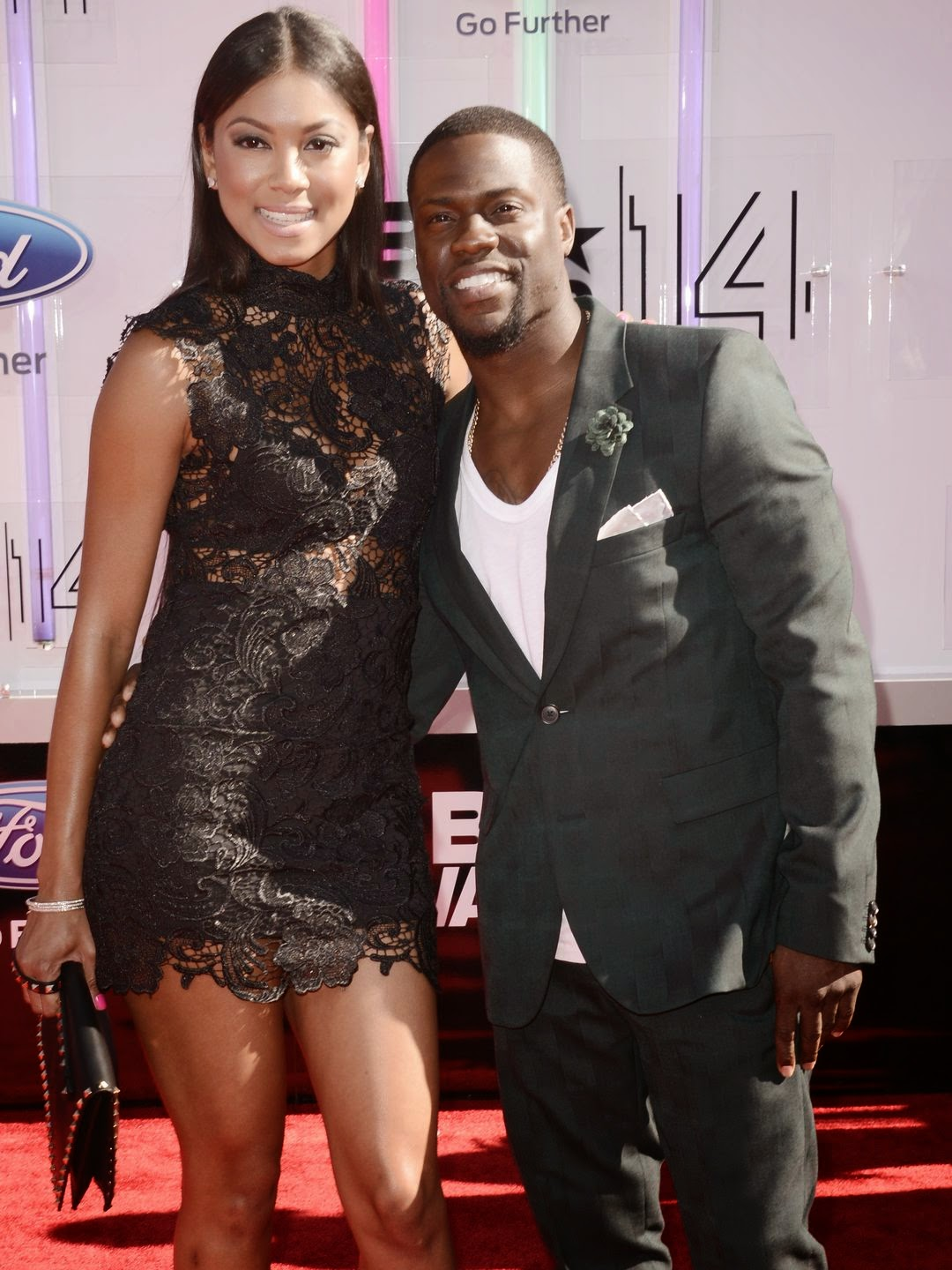 Torrei Hart, left, and Kevin Hart