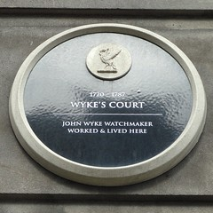 Photo of John Wyke black plaque