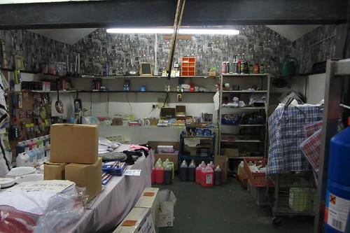 Gillys Hardware stall, Openshaw Market, Ogden Lane
