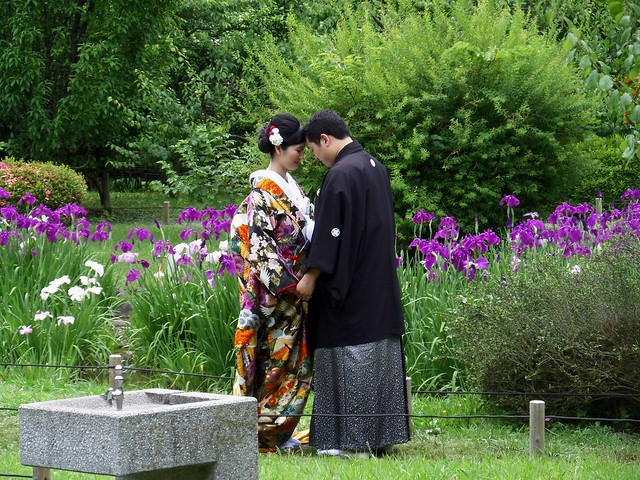 Hama-Rikyu Garden Wedding Couple