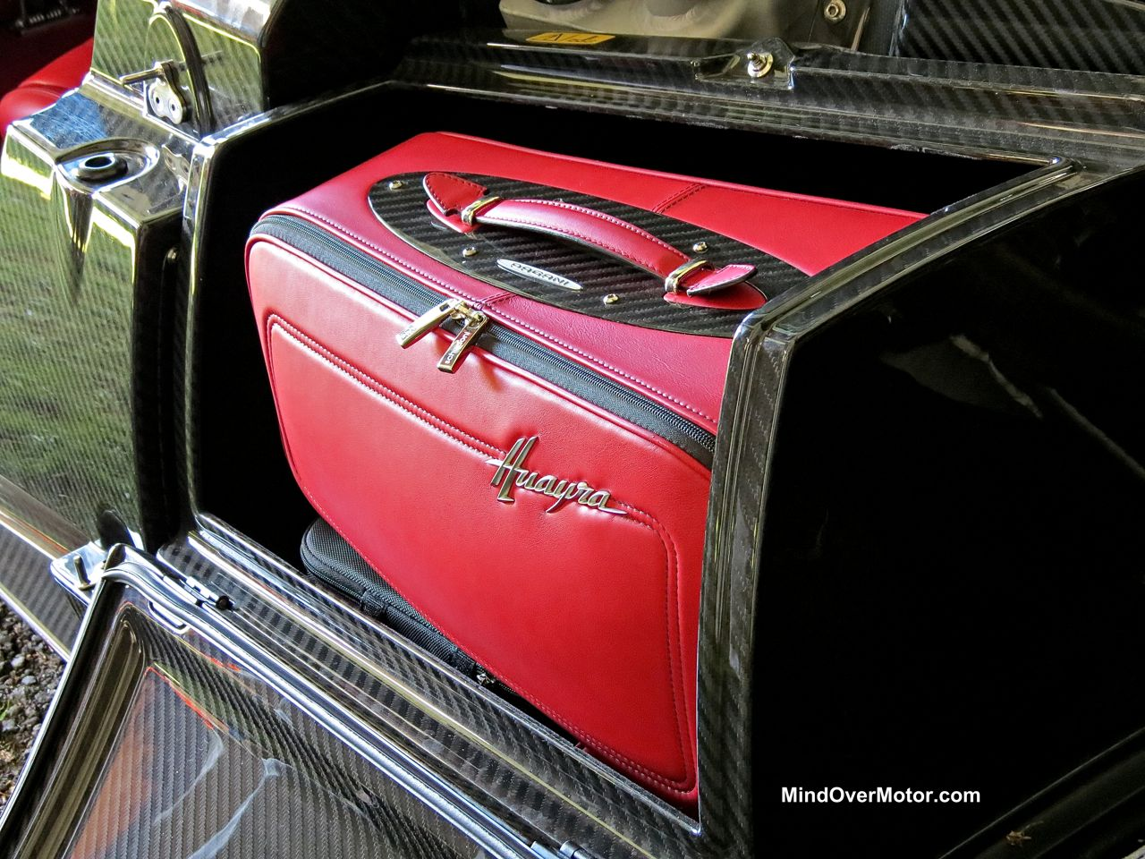 Pagani Huayra saddle bag luggage compartment