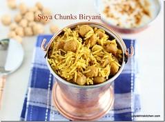 soya chunks- biryani