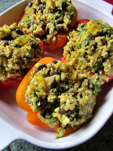 Black Bean and Quinoa Stuffing for Peppers
